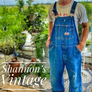 Round House made in USA vintage sz 38 overalls A22
